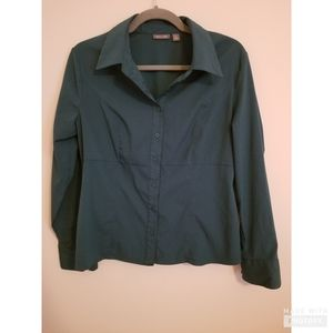 Women's collared button down blouse
